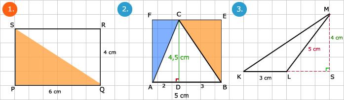 oppervlakte driehoek berekenen - wiskunde